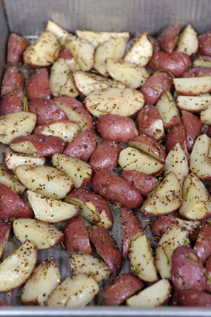 Rosemary potatoes are quick and easy side for that busy weeknight. Get this simple recipe now on Foodal.