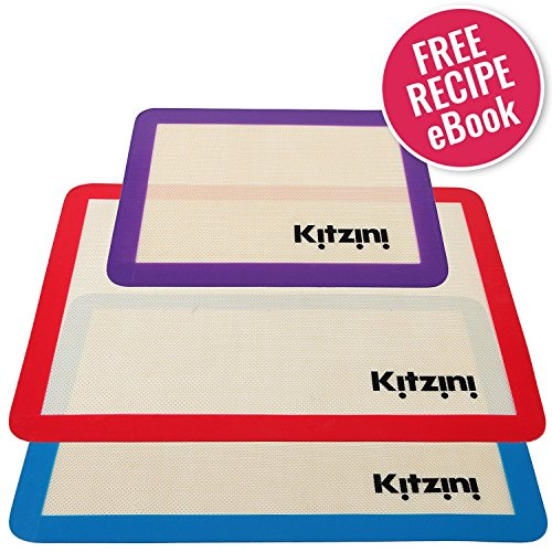 Artisan 2-Piece Professional Baking Set with Half-Size  Cookie Sheet Pan and Silicone Baking Mat with Ruler Border