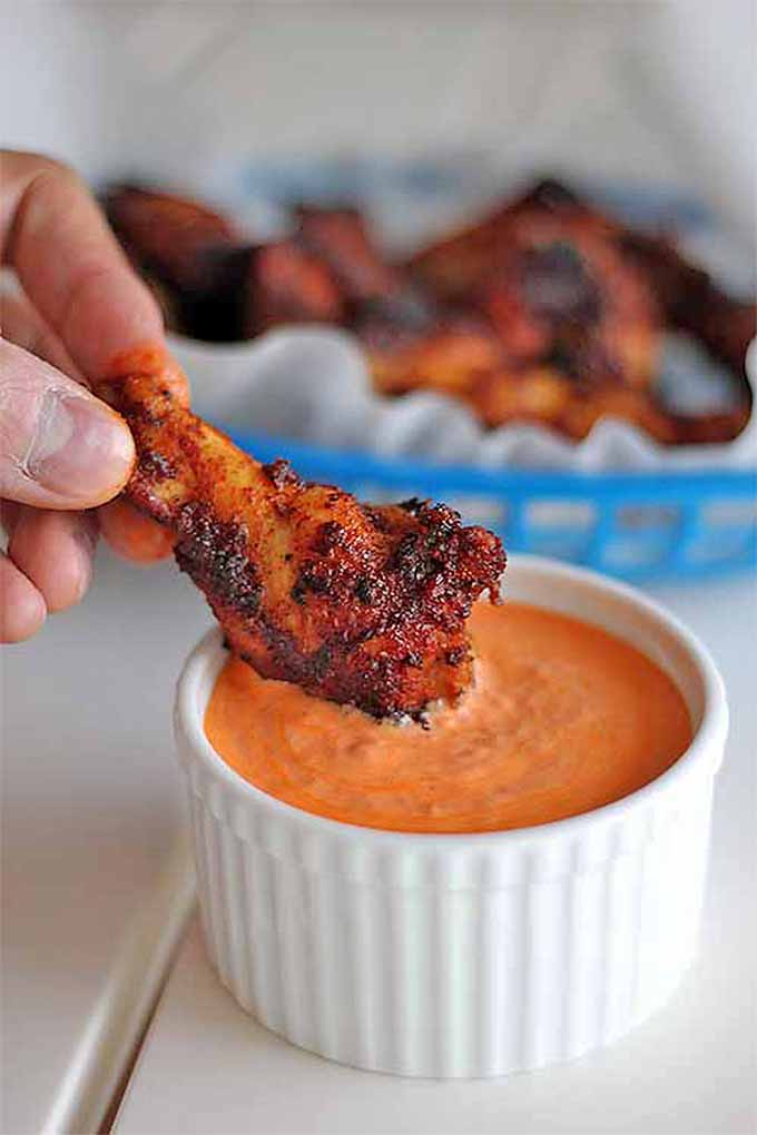 Check out our favorite game day wings recipes here- and don't forget the dipping sauce! Read more now, or Pin It for later: https://foodal.com/recipes/appetizers/best-chicken-wings/