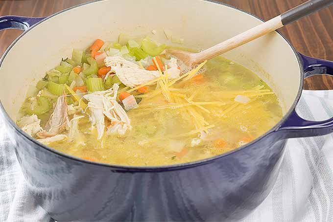 Chicken soup with regular or gluten-free noodles. | Foodal.com