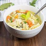 Chicken noodle soup with bay leaf and thyme. | Foodal.com
