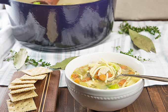 Classic homemade chicken noodle soup foodal serve our recipe for chicken noodle soup for dinner tonight foodal forumfinder