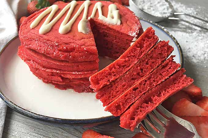 Enjoy a Huge Forkful of Red Velvet Pancakes | Foodal.com