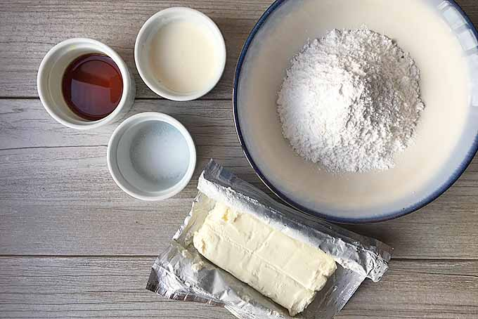 Gathering Ingredients for Cream Cheese Glaze | Foodal.com