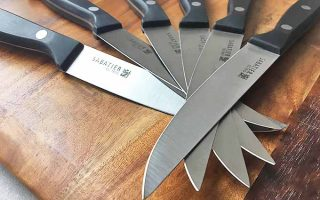 An array of Sabatier steak cutlery | Foodal.com