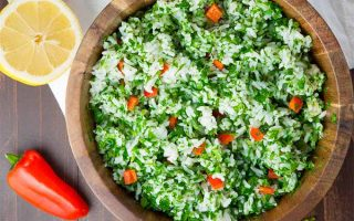 A Delicious Lemon Parsley Rice Salad