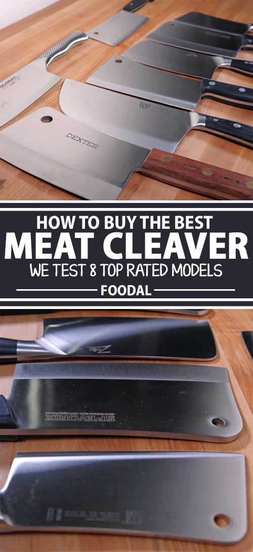 To save your fine cutting tools, use a robust meat cleaver instead. With a large blade and ample weight, these big boys make short work of challenging foods – they dress ribs, chop up whole chickens, lop coconuts, or hew clean through a melon in one fell swoop. Check out our complete buying guide right here on Foodal.