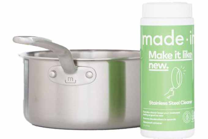 Horizontal image of the Made In Cleaning Solution for Stainless Steel