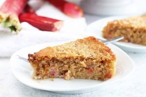 Spring into Summer with Tangy Lemon Rhubarb Spelt Cake