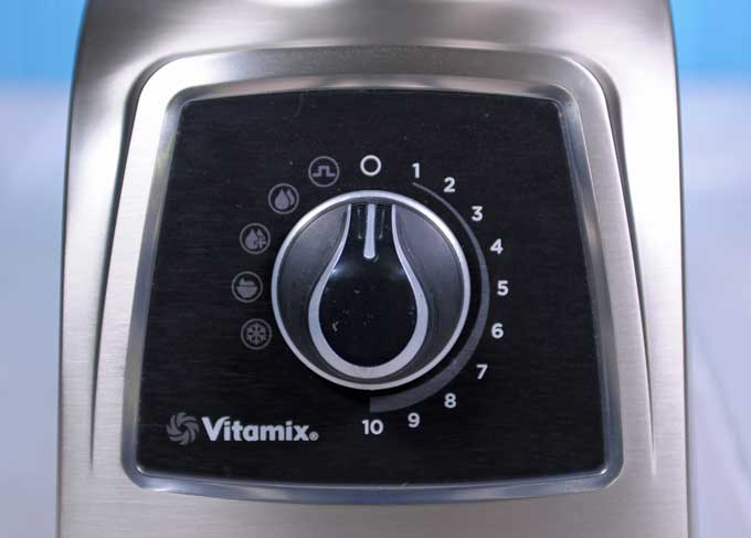 Closeup of the Vitamix S55 control panel.