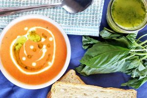 Comfort Food Gets Kicked Up A Notch With This Creamy Tomato Basil Bisque