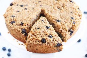 Take a Break with a Slice of Maple Blueberry Coffee Cake