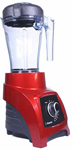 An oblique view of the Vitamix S3 Personal Blender on a white, isolated background.