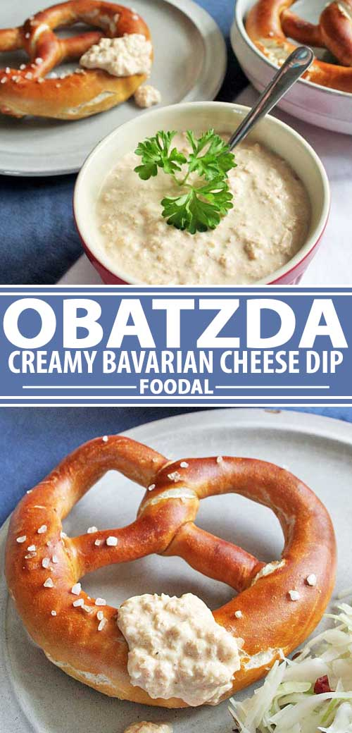Need a tasty dip for gameday, movie night, or just for snacking? Try Obatzda! It's a Bavarian cheese dip that's perfect for dipping and as a sauce. Serve this tasty German fare with everything from leftovers that need a little sprucing up to an authentic Oktoberfest meal. Get the on Foodal now. #cheesedip #bavarian #germanfood #oktoberfest #foodal