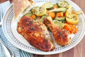 Dinner Tonight: Savory One-Pan Roasted Spiced Chicken with Vegetables