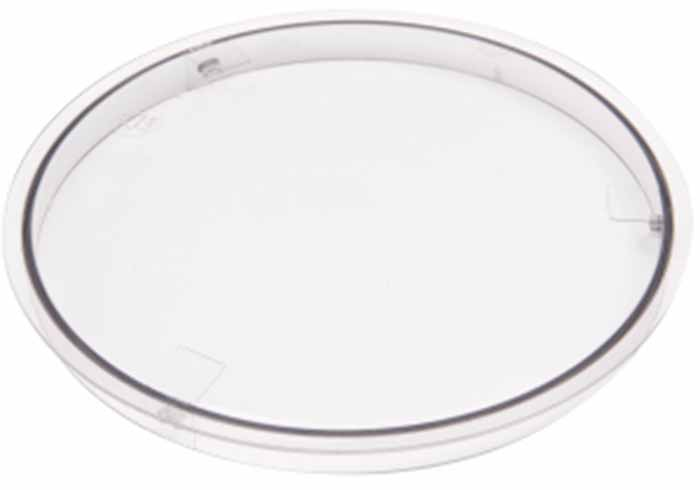 Image of a plastic bowl cover attachment.