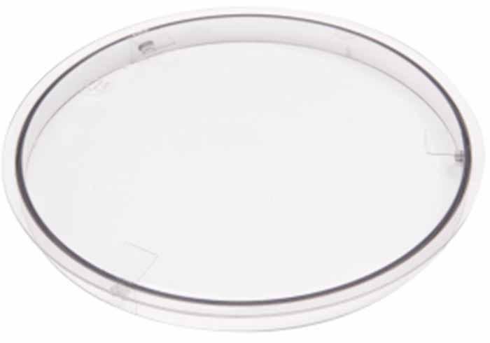 Image of a plastic bowl cover attachment.
