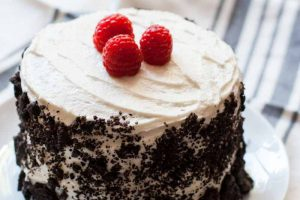 Vegan Vanilla Raspberry Cake with Oreos – Fun Flavors for Any Celebration