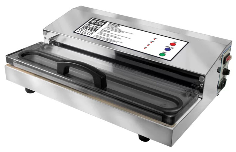 The Weston Pro-2300 Vacuum Sealer on a white, isolated background.
