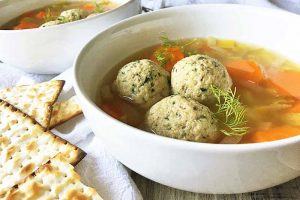 Unwind for Dinner with a Comforting Bowl of Vegetarian Matzo Ball Soup