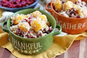 A Festival of Fall Flavors: Quinoa with Roasted Butternut Squash and Cranberries