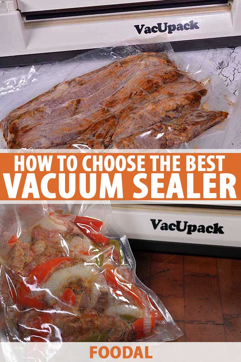A collage of photos showing different models of vacuum sealers.