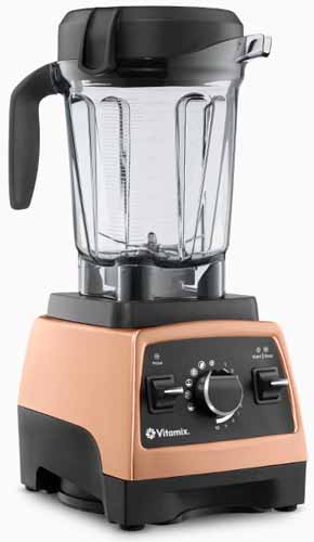 750 Professional Series Vitamix Blender in Heritage Copper Metal Finish on a white, isolated background.