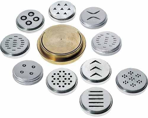 Image of various metal noodle shape disks.