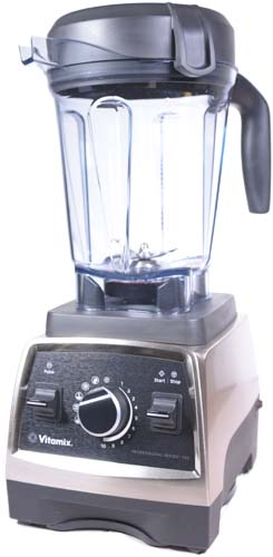 Oblique view of the Vitamix 750 Professional Series in Brushed Stainless Steel Finish