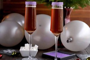 Celebrate with a Festive and Bubbly Sugar Plum Cocktail