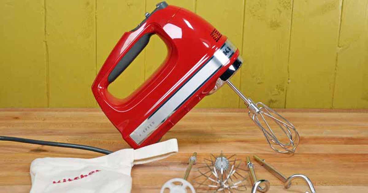 Hand Held Mixer Ultra Power 5 Speed Immersion Electric Blender Empire Red