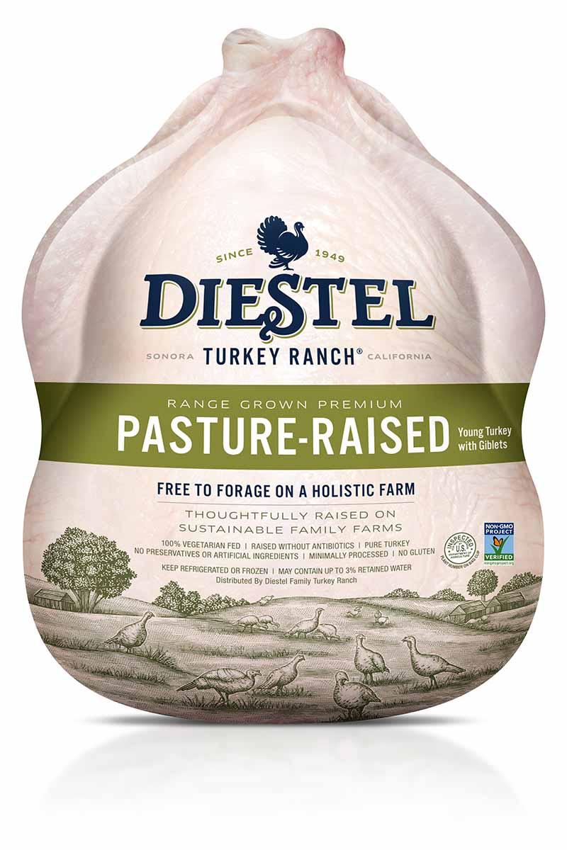 Vertical image of the Diestel Pasture-Raised Turkey