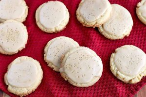 Sweet and Salty Glazed Maple Cookies