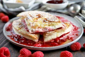 Make a Sweet Double-Decker Cream Cheese, Raspberry, and Pineapple Quesadilla for Dessert
