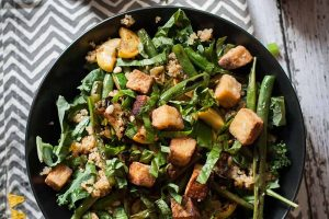 The Best Tofu You've Ever Had with a Charred Green Bean Salad