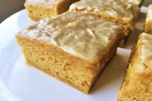 Sweet Potato Blondies with Maple Syrup Glaze