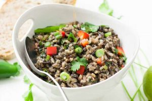 Wild Rice Salad with a Thai-Style Dressing