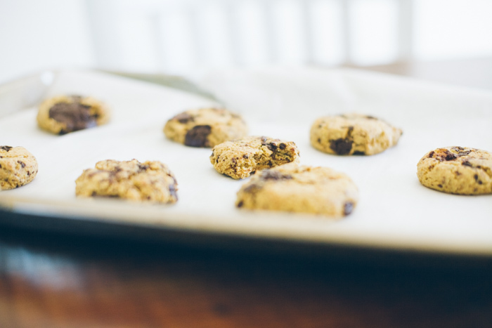 New spin on chocolate chip cookies, made with chickpea flour for a high-protein, gluten-free treat