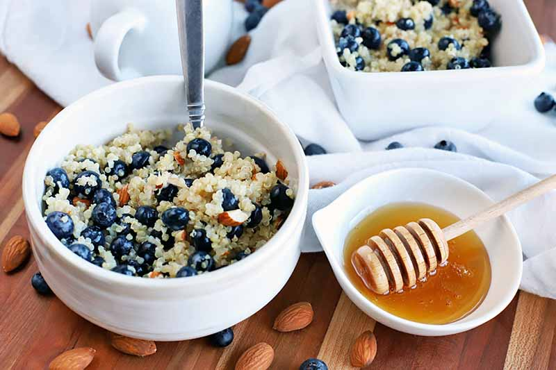 Breakfast Quinoa with Blueberries to Brighten Up Your