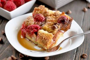 Treat Yourself to Overnight Raspberry & Chocolate French Toast Casserole for Breakfast