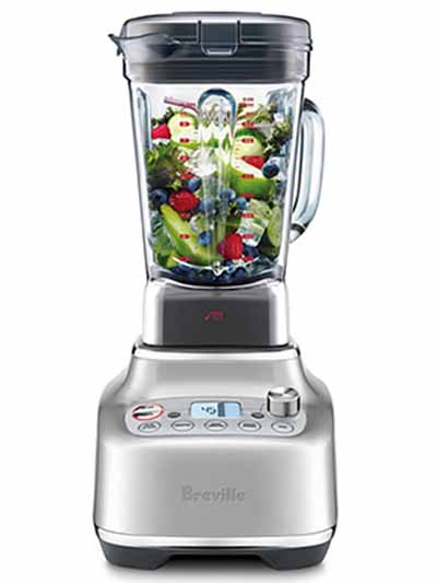 Image of a Blender Super Q Blender with fruits and vegetables in the container.