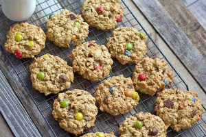 Chewy Flourless Monster Cookies: A Snack to Beat All Others (Gluten Free)