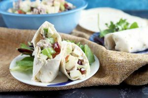 Fresh and Flavorful Chicken Waldorf Salad Wraps