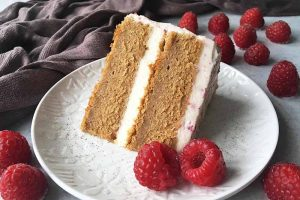 Spelt Layer Cake with Raspberry Whipped Cream