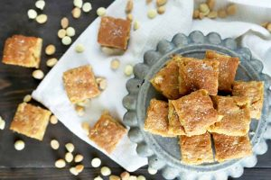 Soft and Chewy White Chocolate Macadamia Nut Blondies