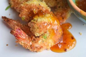 Lightened Up Sweet and Sour Coconut Shrimp