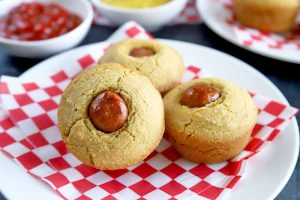 The Easiest Gluten-Free, Dairy-Free Corn Dog Muffins