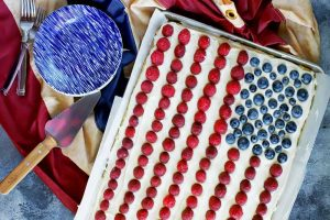 Get Patriotic with a Classic Soft and Chewy American Flag Cookie Cake