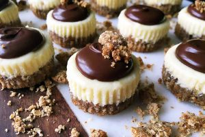 One Bite Is So Nice with Mini Gluten-Free Chocolate Covered Cheesecakes