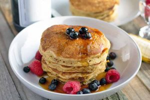 Whole Grain Buttermilk Pancakes Add Nutrients to a Classic Breakfast